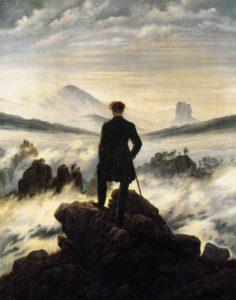 Viandante sul mare di nebbia, Caspar D. Friedrich