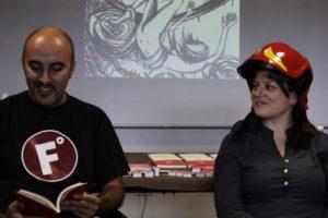 Gianluca Morozzi e io durante la presentazione de La Begonia