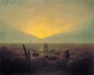 """Friedrich, """"Luna nascente sul mare"""""""