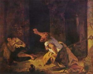 Eugene Delacroix-Il prigioniero di Chillon